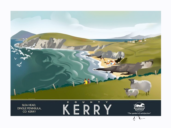 Slea Head, Kerry - Irish Travel Posters