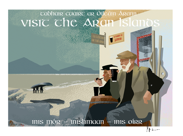 Aran Islands, Galway - Irish Travel Posters