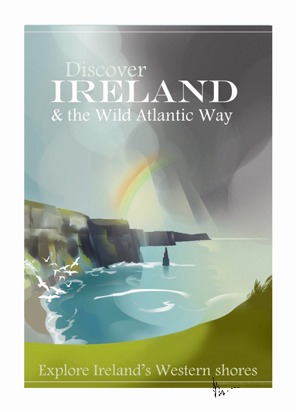 Cliffs of Moher - Irish Travel Posters