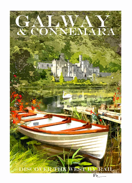 Kylemore Abbey, Galway - Irish Travel Posters