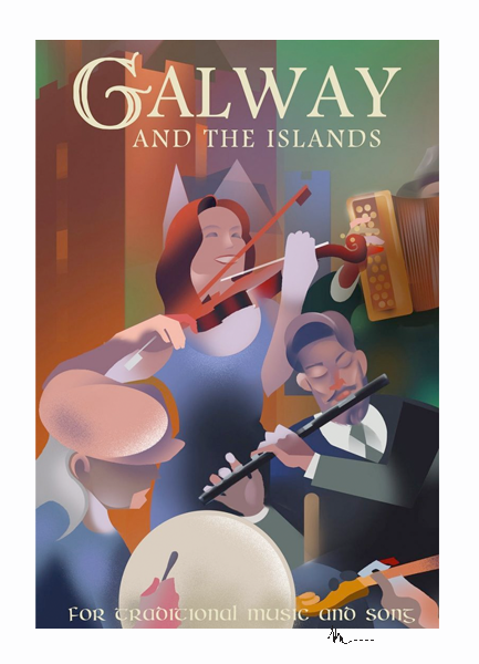 Galway - Irish Travel Posters