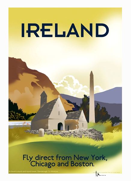 Glendalough - Irish Travel Posters