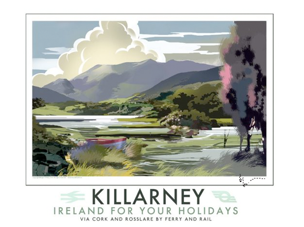 Killarney Lakes - Irish Travel Posters