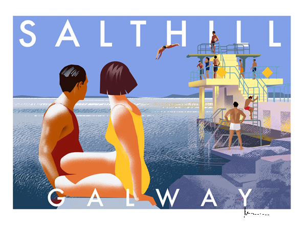 Salthill, Galway - Irish Travel Posters