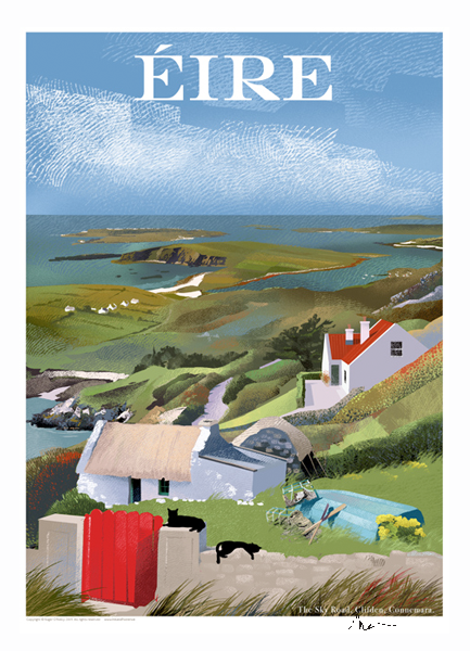 Sky Road Clifden, Galway - Irish Travel Posters