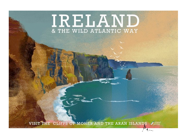 Cliffs of Moher, Clare - Irish Travel Posters