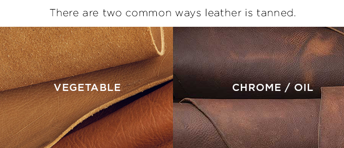 vegetable tanned leather vs chrome tanned leather