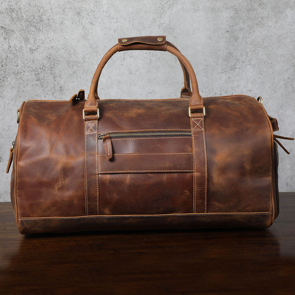 Vintage Leather School Backpack Casual Travel Backpack Laptop Bag in Dark Coffee 9452