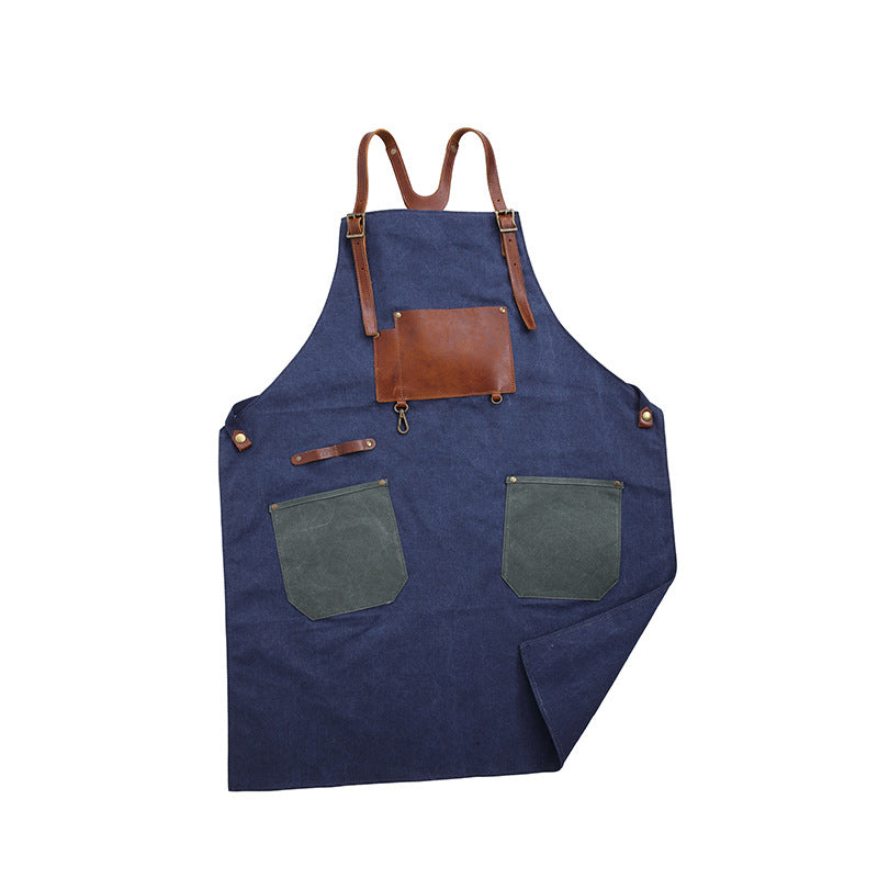 Adjustable Adult Apron Canvas Apron Kitchen Apron Waitresses Apron Work Apron Cooking Aprons WQ5895