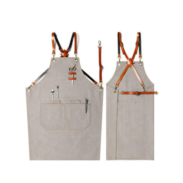 Adjustable Canvas Apron Custom Logo Restaurant Apron Kitchen Apron Shop Apron Work Apron Long Apron M79-3
