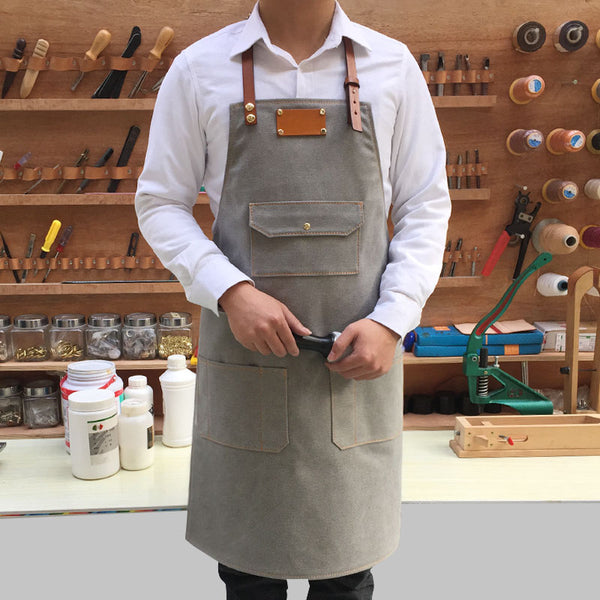 Anti Oil Stain Canvas Apron Chef Apron Cooking Apron Restaurante Apron Studio Apron Work Apron ZW129-1