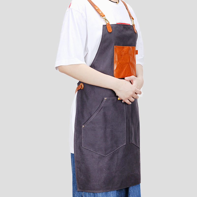 Canvas Work Apron Long Apron Women Apron Cafe Apron Shop Apron Studio Apron Craftsman Apron ZFJX6033