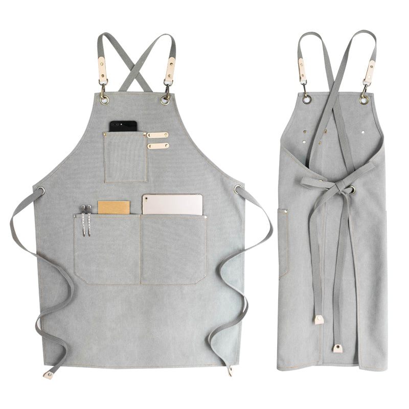Canvas Work Apron Variety Color Apron Unisex Apron Shop Apron Studio Apron Server Apron GPG904 - LISABAG