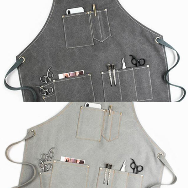 Canvas and Leather Apron Work Apron Workshop Apron Mens Rust Apron Mens Apron Shop Apron GP903C - LISABAG