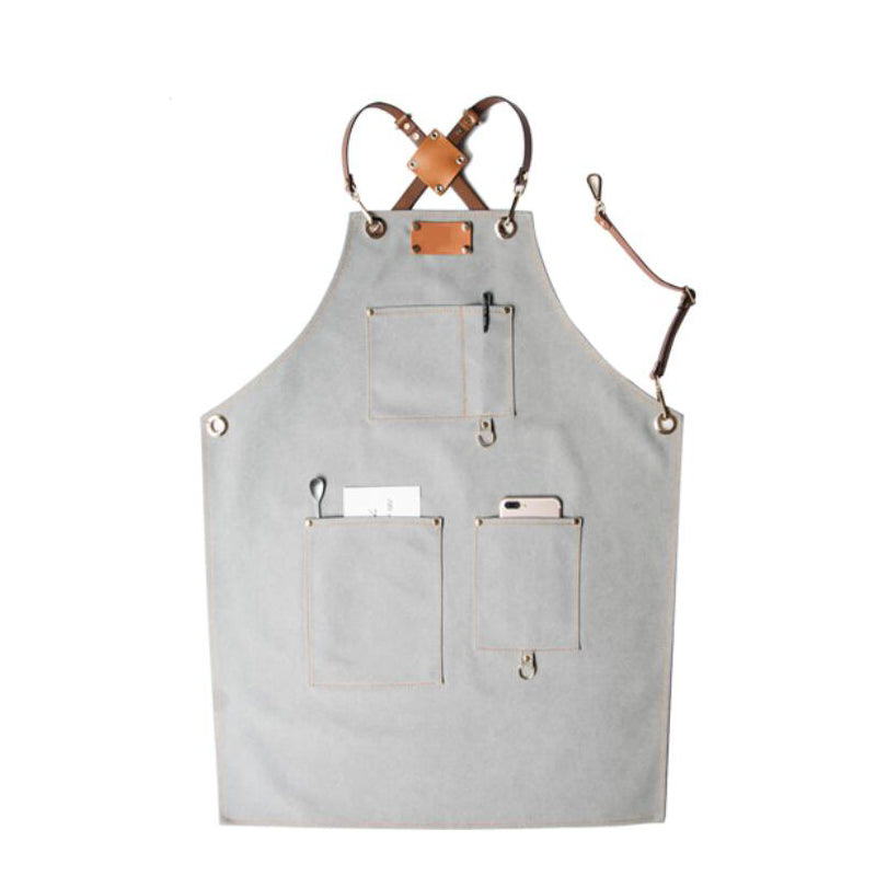 Custom Canvas Apron Craftsman Apron Work Apron Canvas With Leather Shop Apron Server Apron GPG923-X - LISABAG