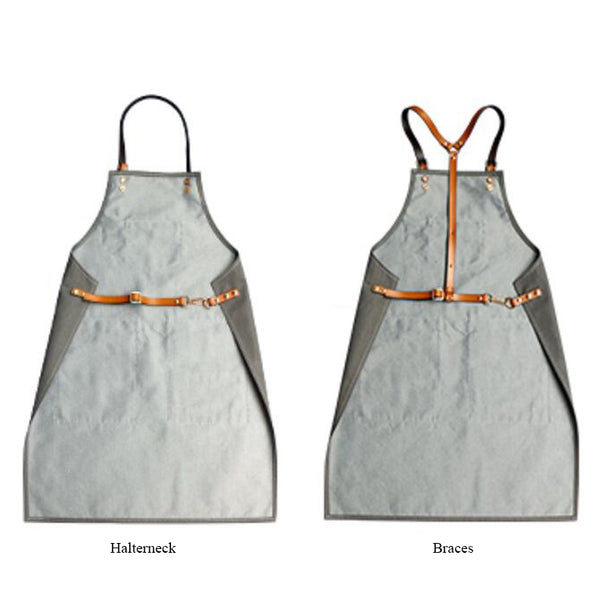 Denim And Leather Apron Custom Logo Server Aprons Personalized Work Apron Men Studio Apron M99-7A - LISABAG
