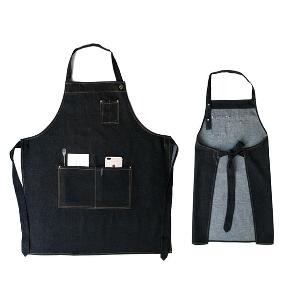 Denim Apron Custom Work Apron Mens Workshop Apron Personalized Shop Apron Long Apron GPT935 - LISABAG