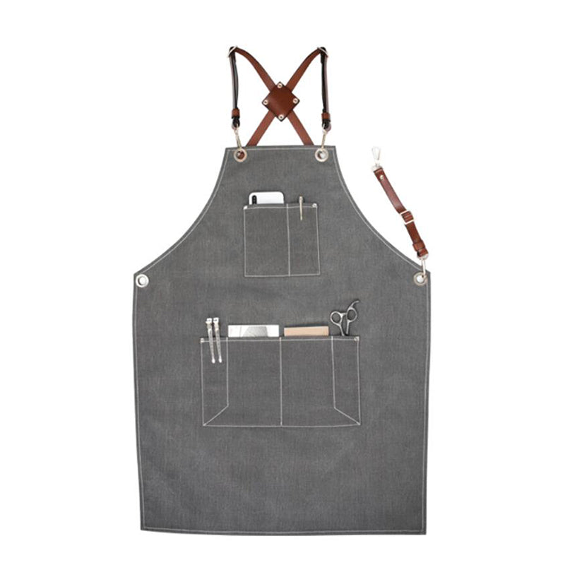 Denim Apron Personalized Work Apron Unisex Apron Studio Apron Server Apron Shop Apron Large Apron GPG922-X - LISABAG