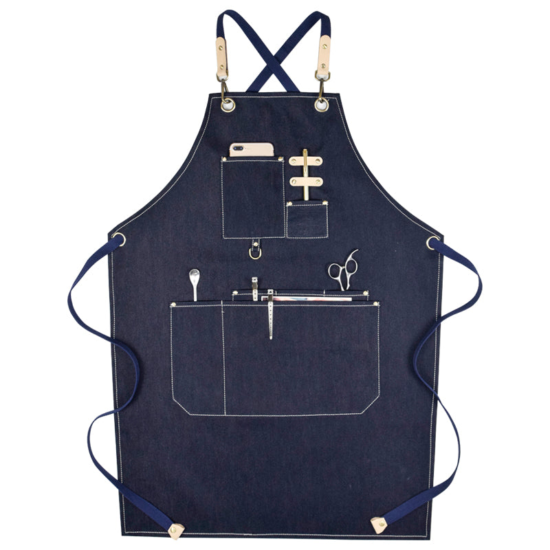 Denim Apron Work Apron Long Apron Studio Apron Server Apron Restaurant Apron Stylish Shop Apron GPG954 - LISABAG