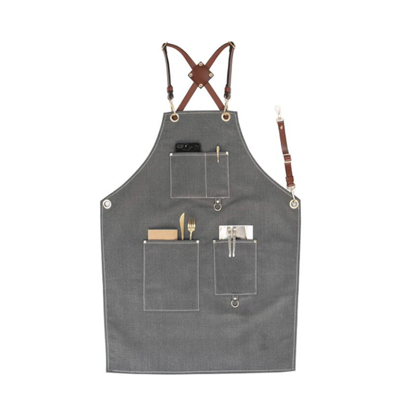 Denim Apron Work Apron Unisex Apron Personalized Studio Apron Three Size Apron Long Apron GPG923-X - LISABAG