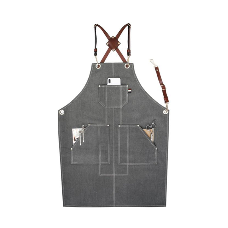 Denim Work Apron Personalized Apron Gardener Apron Studio Apron Shop Apron Cafe Apron Long Apron GPG911-X - LISABAG