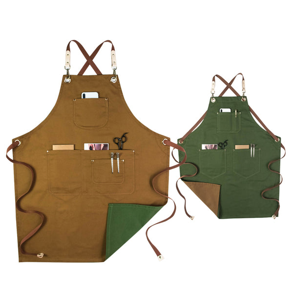 Double Color Cotton Apron Work Apron Studio Apron Restaurant Apron Cafe Apron Server Apron GPG921 - LISABAG