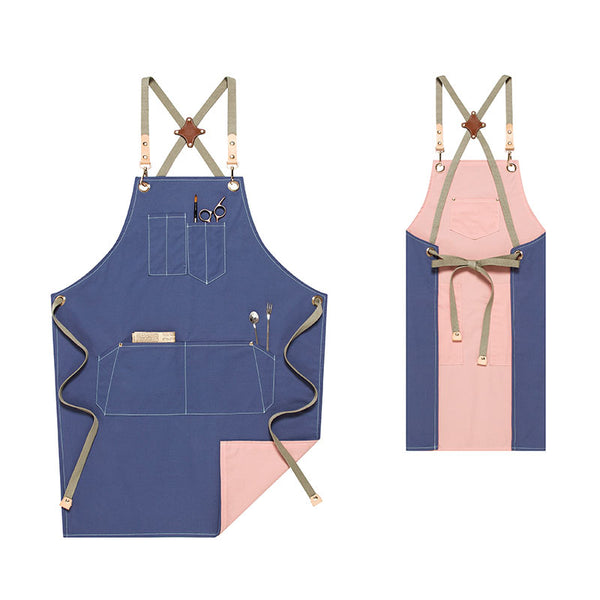 Double Side Use Apron Shop Apron Adults Apron Work Apron Cotton Apron Kitchen Apron Custom Logo Aprons M99-12