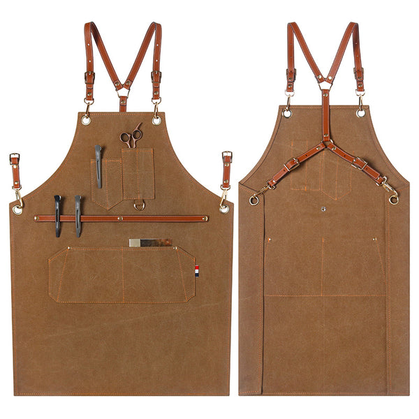 Durable Canvas Apron Work Apron Personalized Studio Apron Painter Apron Workshop Apron Large Size Apron ZW209-21Z