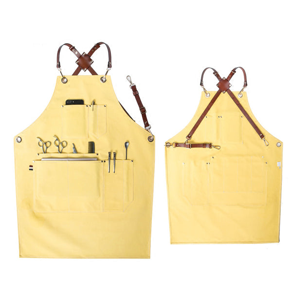 Four Colors Available Canvas Apron Painter Apron Work Apron Cafe Apron Shop Apron Personalized Apron GPG912 - LISABAG