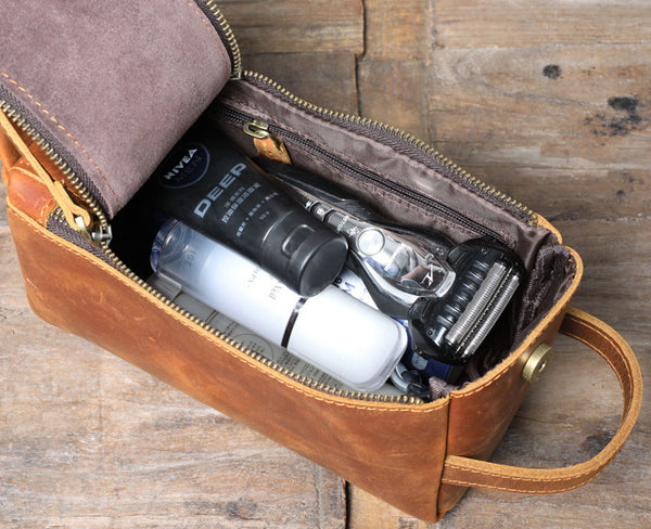 Groomsmen Gift Groomsman Gift, Personalized Leather Toiletry Bag with Monogram, Leather Dopp Kit, Best Man Gifts, Father Gifts, Man Gift