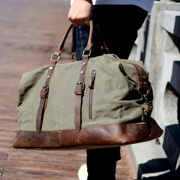 916c7867d5 Sale Handmade Military Style Oversized Weekend Travel Duffel Bag