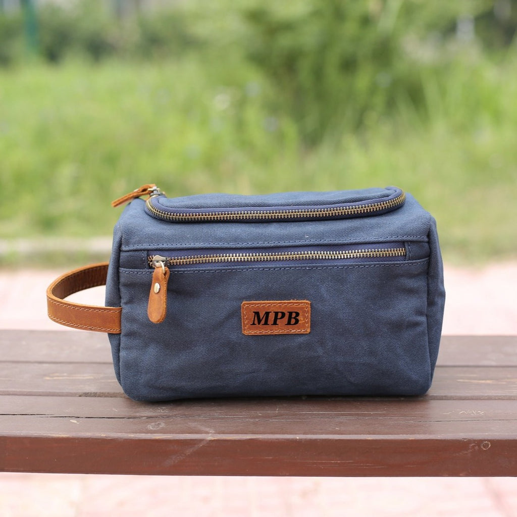Personalized Dopp Kit Groomsmen Toiletry Bag Wedding Gift Groom Husband Father Brother Boyfriend Travel Case