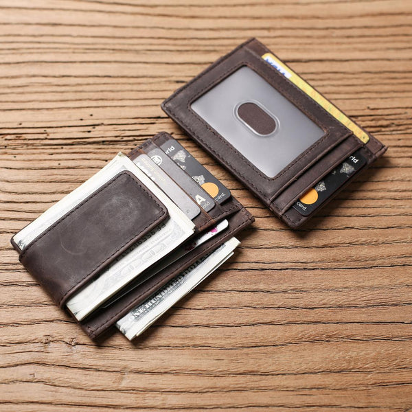 Personalized Husband Gift from Wife Custom Wallet for Men Engraved Leather Money Clip Boyfriend gift Mens Leather Money Clip Wallet
