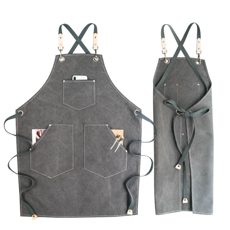 Personalized Canvas Apron Work Apron Store Apron Fashion Studio Apron Custom Logo Shop Apron G902 - LISABAG