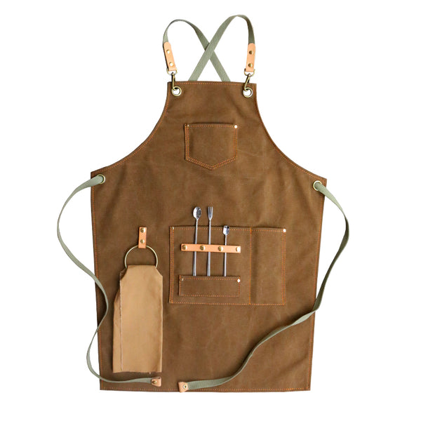 Personalized Canvas Apron Work Apron Studio Apron Large Size Apron Server Apron Gardener Apron ZW129-14 - LISABAG