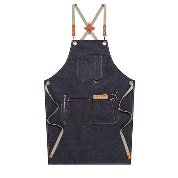 Personalized Denim Apron Restaurant Aprons Shop Apron Server Apron Studio Apron Long Work Apron M67-19