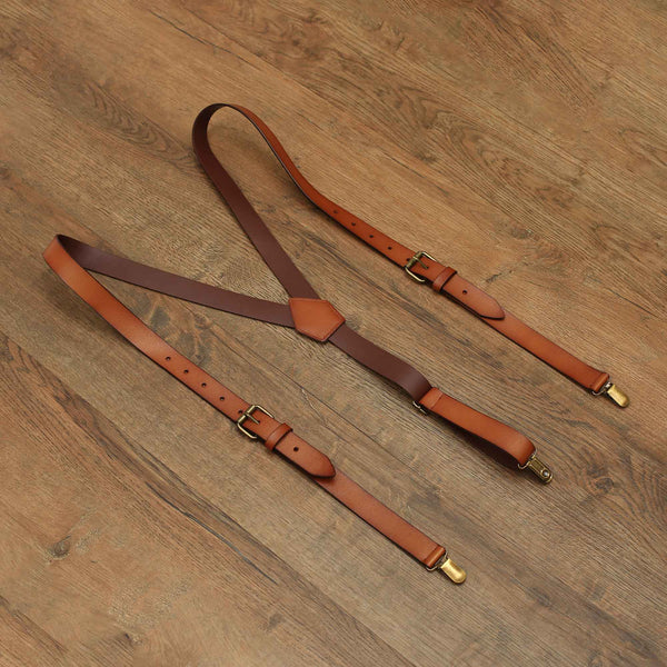Personalized Groomsmen Suspenders Wedding Leather Suspenders Men's Suspenders K0194 - LISABAG