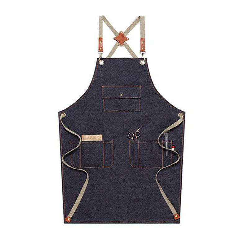 Personalized Work Apron Denim Apron Custom Logo Apron Chef Apron Florist Apron Cross Back Apron M67D1 - LISABAG