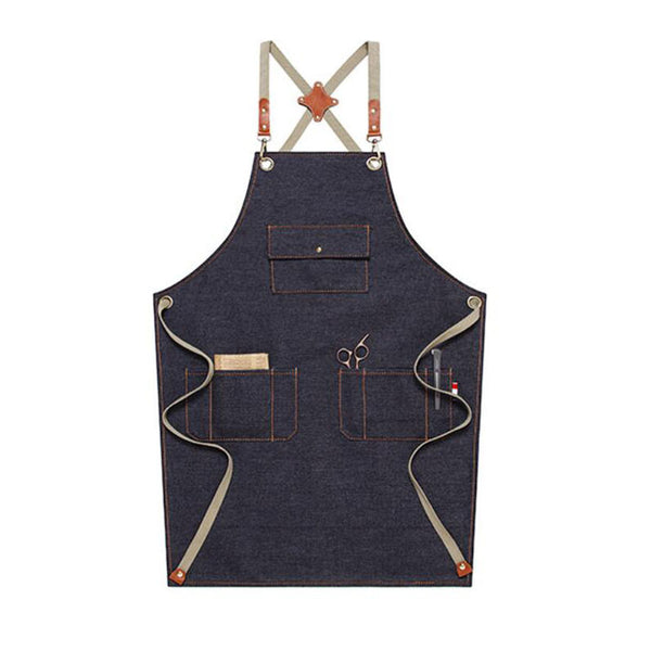 Personalized Work Apron Denim Apron Custom Logo Apron Chef Apron Florist Apron Cross Back Apron M67D1