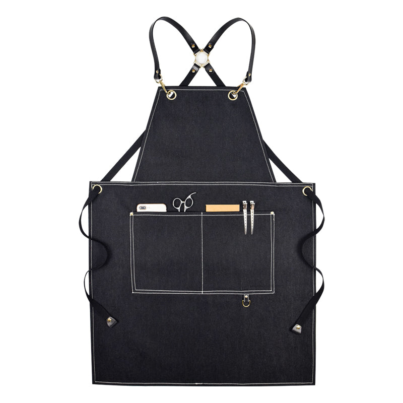 Stylish Denim Apron Personalized Work Apron Studio Apron Workshop Apron Painter Apron Server Apron GPG913 - LISABAG