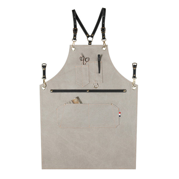 Thicken Canvas Work Apron Gardener Apron Custom Logo Studio Apron Server Long Apron Restaurant ZW209-21H