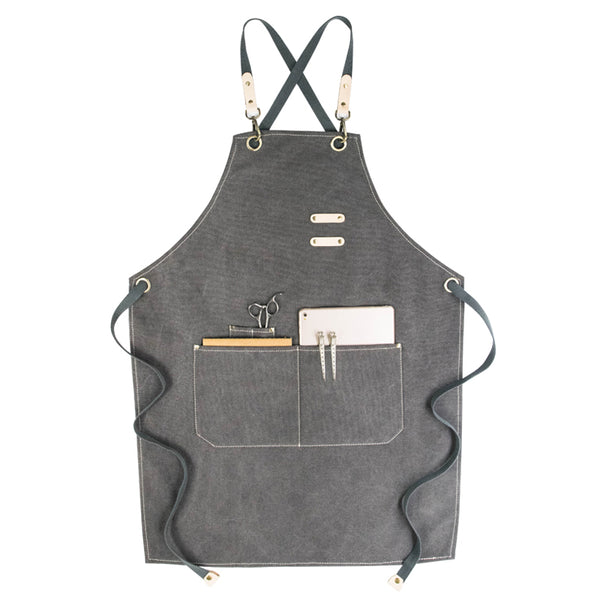 Waterproof Canvas Apron Custom Men's Apron Personalized Work Apron Cafe Apron Server Apron Shop Apron GP900A - LISABAG