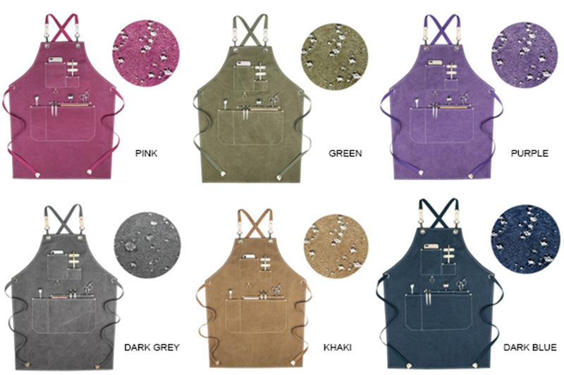 Waterproof Canvas Apron Multi Color Apron Work Apron Studio Apron Painter Apron Restaurant Apron GPF954 - LISABAG