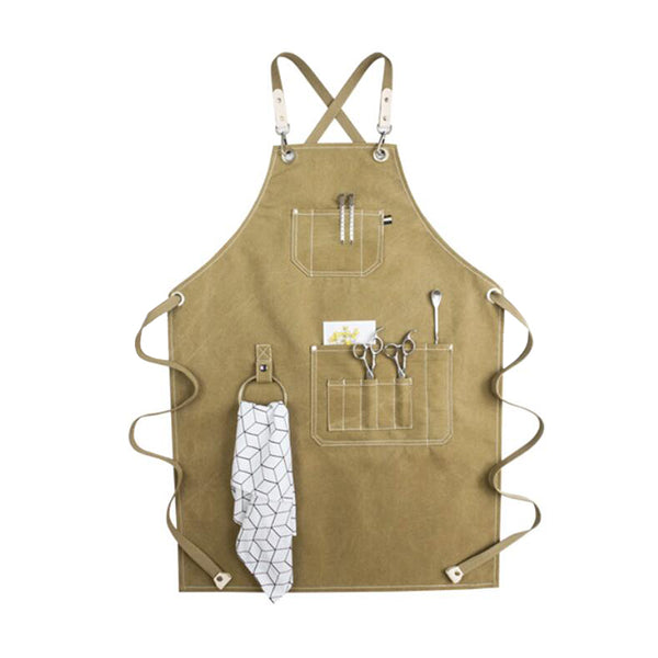 Waterproof Canvas Apron Personalized Apron Work Apron Shop Apron Hairdresser Apron Painter Apron GPF951 - LISABAG
