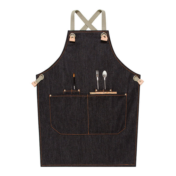 Waterproof Canvas Apron Personalized Chef Apron Antifouling Artist Apron Custom Logo Work Apron M75-18 - LISABAG
