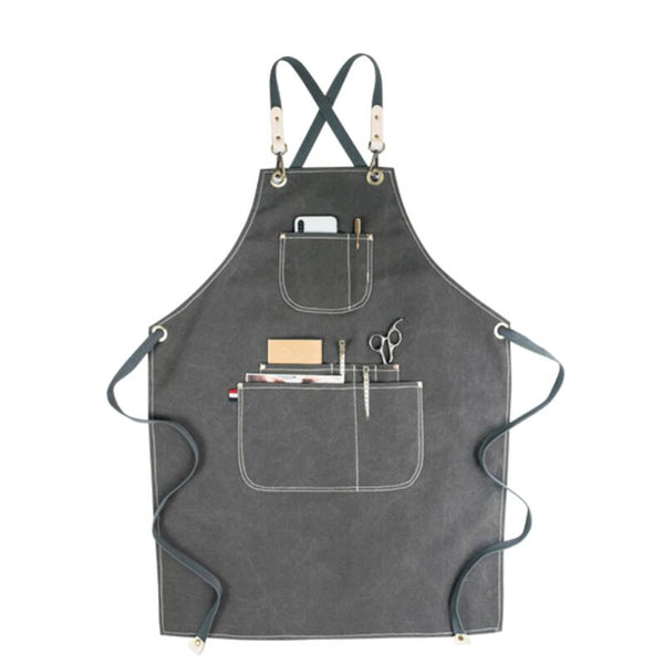 Waterproof Canvas Apron Workshop Apron Studio Apron Work Apron Personalized Apron Shop Apron GPF952 - LISABAG