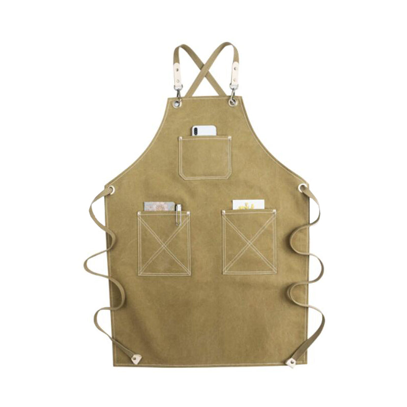 Waterproof Canvas Work Apron Personalized Apron Studio Apron Craftsman Apron Hairdresser Apron GPF953 - LISABAG