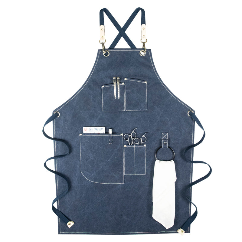 Waterproof Canvas Work Apron Personalized Studio Apron Cafe Apron Shop Apron Gardener Apron GPF955 - LISABAG