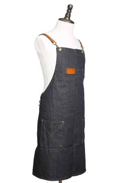 Waxed Canvas and Leather Apron Crafter Apron Barista's Apron Barbers Apron Custom Apron WQ01 - LISABAG