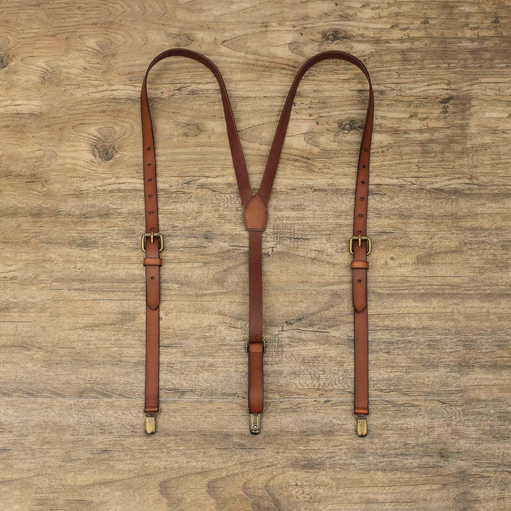 Personalized Gifts For Men Suspender Groomsmen Suspenders Mens Braces For Grooms Wedding Suspenders Handmade Leather Suspenders 0194